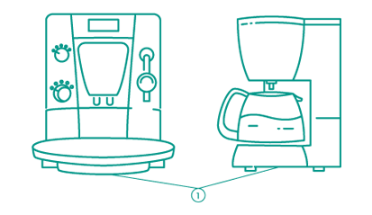 Шильдик на кофеварке и кофемашине